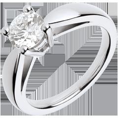 Anillo a medida 30096 - Solitario oro blanco - Diamante 1 quilate