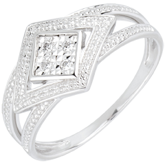 Bague Andromaque or blanc et diamants