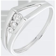 Anillo Triología Odisea oro blanco y diamantes