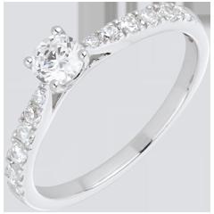 Bague Solitaire Belle Chérie or blanc - diamant 0.3 carat