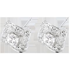 Boucles d'oreilles Destinée - Princesse Perse - or blanc et diamants