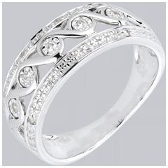 Anello Diana oro bianco e diamanti