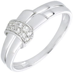 bague desira or blanc et diamants
