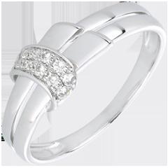 Anello Desiria oro bianco e diamanti