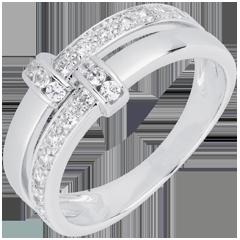 White Gold and Diamond Istria Ring