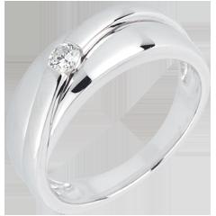 Anillo Solitario diamante Hestia - oro blanco 18 quilates