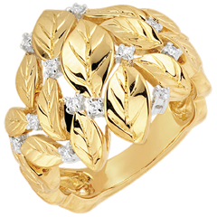Anillo Jardín Encantado - Rocío preciado - oro amarillo 18 quilates