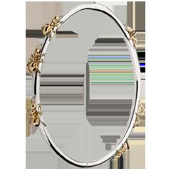 Bracelet Balade Imaginaire - Le Bal des Fourmis - or blanc et or rose 18 carats