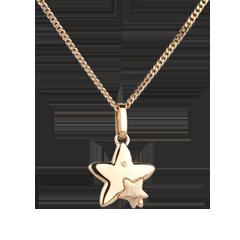 Duetto di stelle - modello piccolo - Oro giallo - 18 carati - Diamante