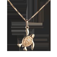 Mały żółwik - duży model - złoto żółte 18-karatowe