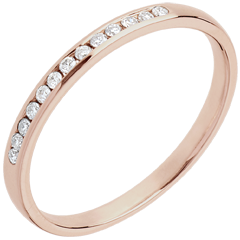 Fede nuziale oro rosa diamante
