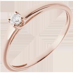 L'essentiel d'un solitaire or rose  - 0.08 carat