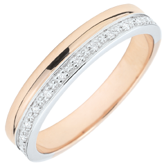 Alliance Elégance or blanc et or rose - 18 carats