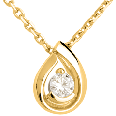 Colgante Lágrima Diamante - oro amarillo 18 quilates y diamante