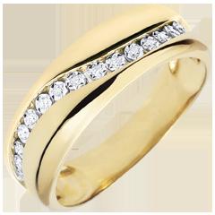 Anillo Amor - Multi-diamantes - oro amarillo – 9 quilates