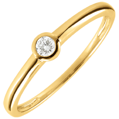 Bague Solitaire Mon diamant - Or jaune - 0.08 carat