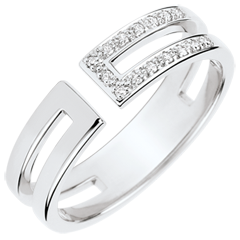 Bague Gloria - diamants et or blanc 18 carats