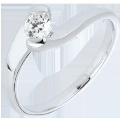 Anello solitario Passione Eterna oro bianco - 0.24 carati