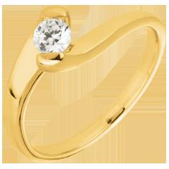 Anello solitario Passione Eterna oro giallo- 0.24 carati