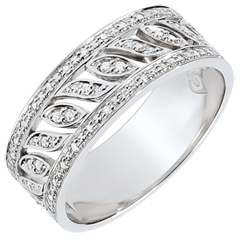 Anello Destino - Théodora - 52 diamanti - oro bianco 9 carati