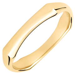 Fede uomo Giungla Sacra - 4 mm - oro giallo 18 carati
