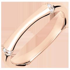 Alliance Jungle Sacrée - Multi diamants 3 mm - or rose 18 carats
