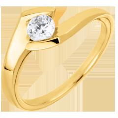 Anello solitario Sera d'estate oro giallo - 0.32 carati