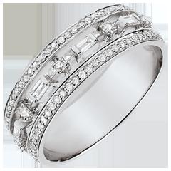 Ring Schicksal - Kleine Kaiserin - 68 Diamanten - Weißgold 9 Karat