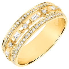 Anello Destino - Piccola Impératrice - 68 diamanti - oro giallo 9 carati