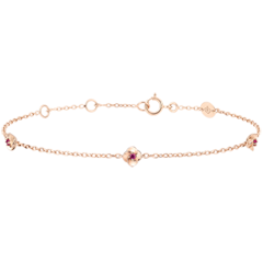 Armband Blüte - Rosenkränzchen - Rubin - Roségold - 18 Karat