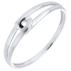 Bague Modernity or blanc