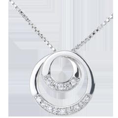 Collier Zephir or blanc et diamant - 45cm