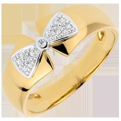 Bague Noeud Amélia or jaune 9 carats