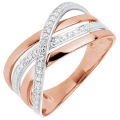 Bague Saturne Quadri - or rose - 18 carats