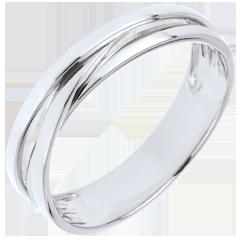 Alliance Saturne Trilogie variation - or blanc - 9 carats
