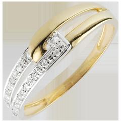 Ring Harmonie Unie Tweekleurig - 18 karaat goud