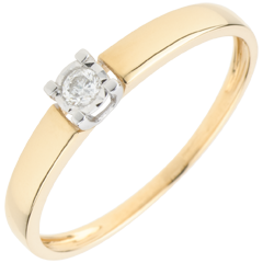 Bague Solitaire Amour d'une vie - diamant 0.05 carat
