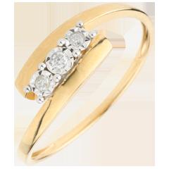 Trilogie Nid Précieux - Harmonia - or jaune - 9 carats