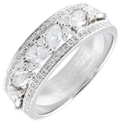 Bague Destinée - Byzantine - or blanc et diamants - 18 carats