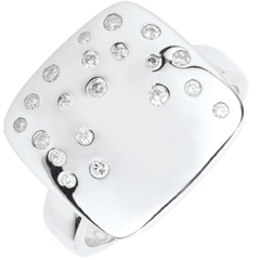 Starry Setting Ring - Silver and diamonds