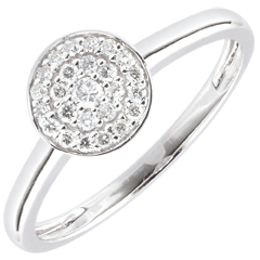 Bague Ma Constellation or blanc - 0.16 carat