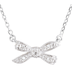 Collier Noeud Ma chérie or blanc 18 carats