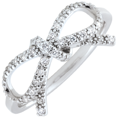 Bague Noeud Finesse diamants blancs - Argent et diamants