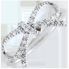 Feine Schleife mit Diamanten - Silber und Diamanten
