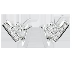 Diamantohrringe in Kristalloptik