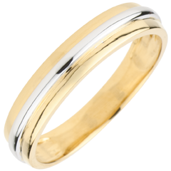 Wedding Ring Helio  - Yellow gold and white gold