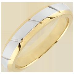 Fede Magnus oro giallo e oro bianco