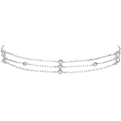 Bracelet or blanc Grâce - 13 diamants