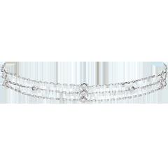 Bracelet or blanc Grâce - 13 diamants