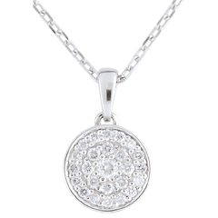 Collier Ma Constellation or blanc - 0.163 carat